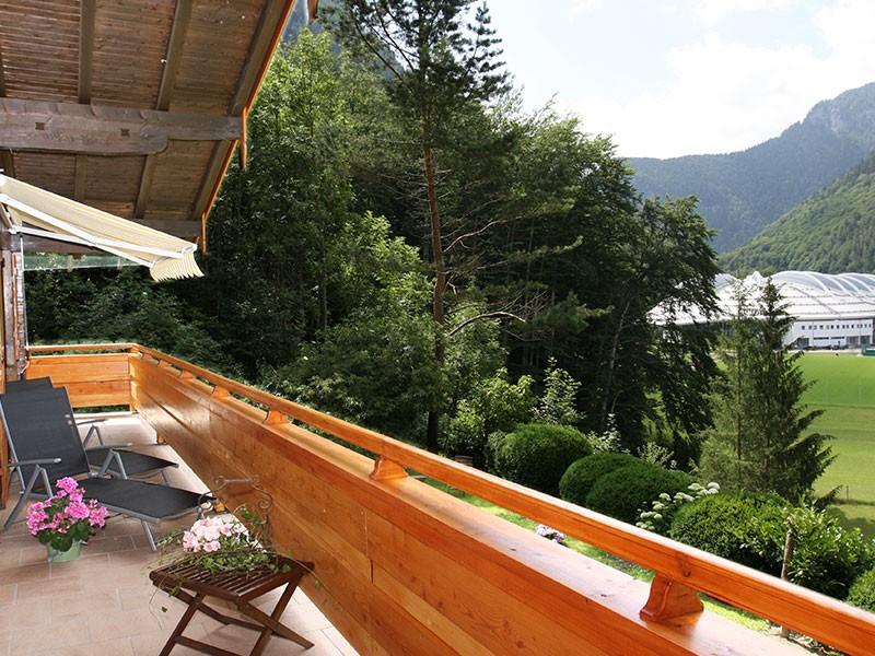 Balkon mit Aussicht  Ferienwohnung Inzell-Gräbeldinger