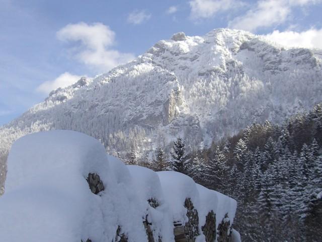 Schnee vor der Türe  Ferienwohnung Inzell-Gräbeldinger